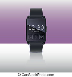 Smart watch, vector illustration.