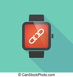 Smart watch with a chain