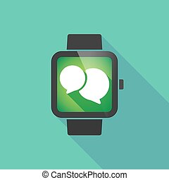 Smart watch with a comic balloon