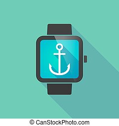 Smart watch with an anchor