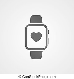 Smart watch with application icon on screen.
