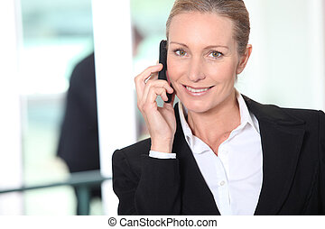 Smart woman on a mobile phone