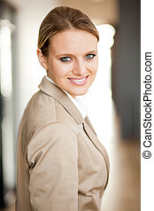 smart young businesswoman portrait