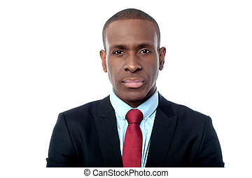 Smart young male business executive