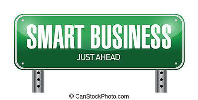 smart, zakelijk, wegaanduiding, illustratie, ontwerp