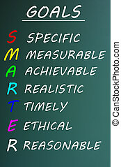 SMARTER Goals acronym on a chalkboard - Conceptual SMARTER ...