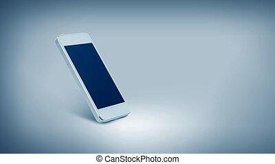 smarthphone, pantalla, negro, blanco, blanco
