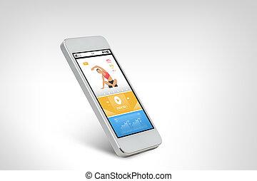 smarthphone, zastosowanie, ekran, lekkoatletyka