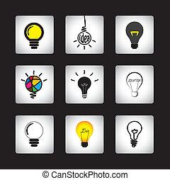 smartness, representar, conjunto, idea, inteligencia, ...