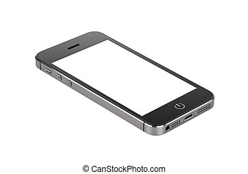 smartphone, écran, moderne, surface, mensonges, noir, vide
