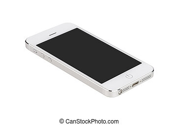 smartphone, écran, moderne, surface, mensonges, vide, blanc