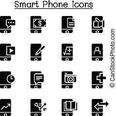 smartphone, ícone, jogo