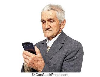 smartphone, γέροντας
