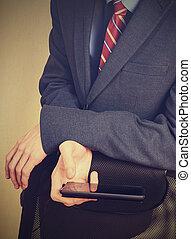 smartphone, νέοs άντραs , χέρι