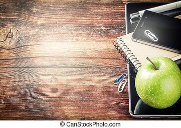 smartphone, アップル, タブレット, デスクトップ, 緑, pc