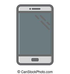 smartphone, カラフルである, 電話, 感触, アイコン, 線