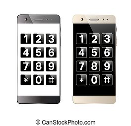 smartphone, キーパッド, デジタル