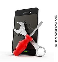 smartphone, 修理