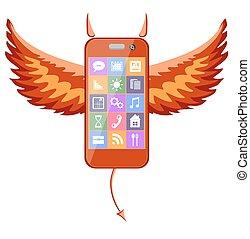 smartphone, 悪魔
