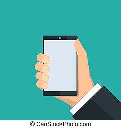smartphone, 手を持つ