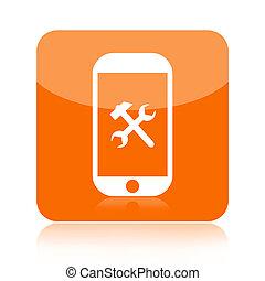 smartphone, 服务, 图标