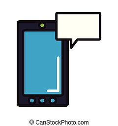 smartphone, 泡, チャット
