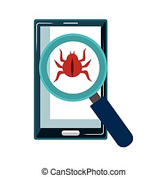 smartphone, 装置, セキュリティシステム, アイコン