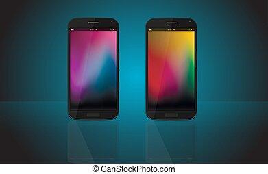 smartphone, 電話, モビール, 現代, 現実的, 新しい