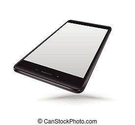smartphone, 黒, mockups
