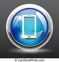 smartphone, 3d, icône