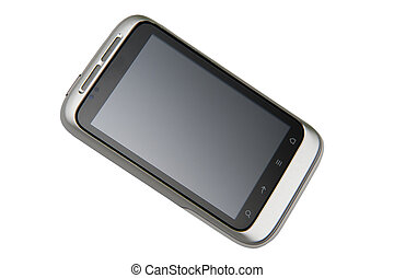 Smartphone - A smartphone on the white background