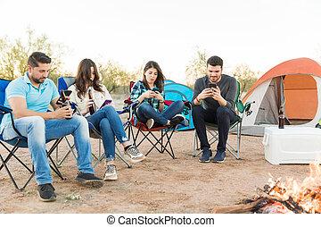 Smartphone Addiction Ruining Camping Vacation