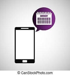 smartphone and calendar application