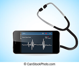 Smartphone and Heart Rate Monitor