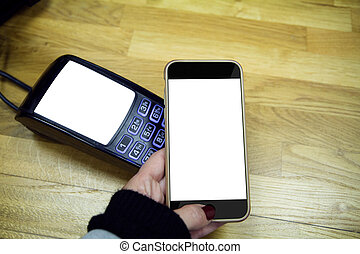 Smartphone and Payment terminal isolated