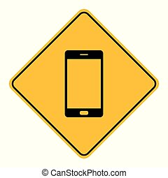 Smartphone and road sign
