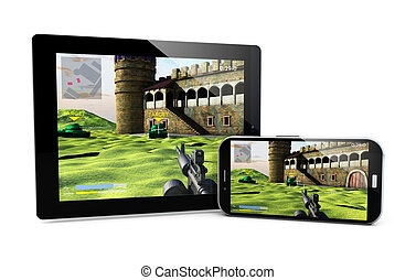 smartphone and tablet gaming