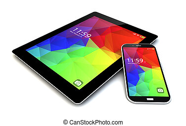 smartphone ant tablet with touchscreen interface
