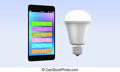 Smartphone app controll LED light