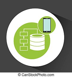 smartphone app development data base vector illustration eps...
