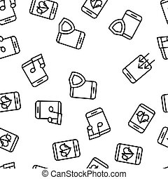 Smartphone App Function Vector Seamless Pattern