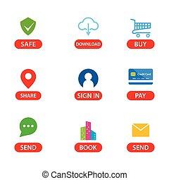Smartphone app icon set vector design
