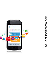 smartphone, app, internet