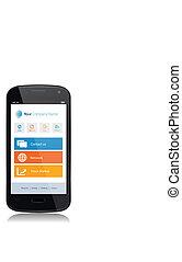 smartphone, app, technologie