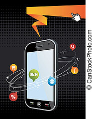 Smartphone application background