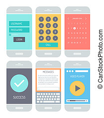 Smartphone application interface elements