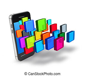 Smartphone applications icons