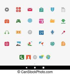 smartphone, apps, γραφικός , απεικόνιση