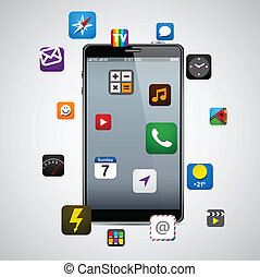 smartphone, apps., modern