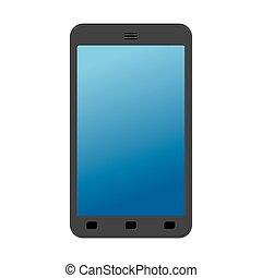 smartphone, arrière-plan., isolated., communication, téléphone, mobile, blanc, technologie, télécommunications